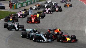 Salida del GP de Canadá 2018