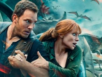 Chris Pratt y Bryce Dallas Howard en 'Jurassic World: El Reino Caído'