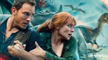 Chris Pratt y Bryce Dallas Howard en 'Jurassic World: El Reino Caído'