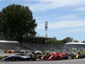 Momento de la carrera del GP de Canadá