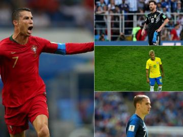 El debut de las estrellas en el Mundial de Rusia