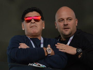 Maradona, en el debut de Argentina en Rusia