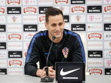 Nikola Kalinic, en rueda de prensa