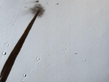 El cráter de impacto en la superificie de Marte