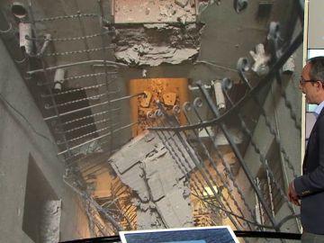 Se derrumban cuatro pasarelas interiores de una corrala en Chamberí (Madrid)