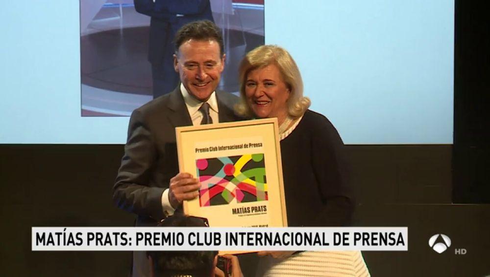 Matías Prats, premio Club Internacional de Prensa