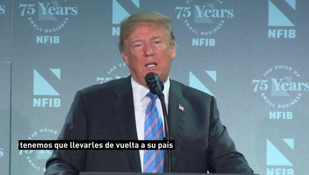 Trump defiende la separación de menores de sus familias como la opción más eficaz para luchar contra la inmigración ilegal