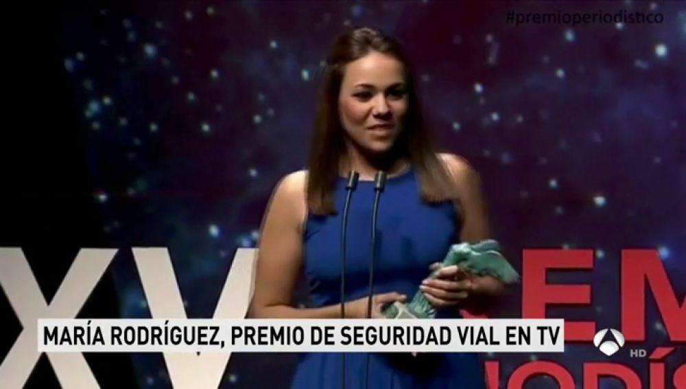La periodista de Antena 3 Noticias, María Rodríguez