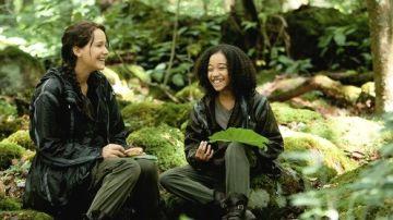 Katniss y Rue en 'Los juegos del hambre'