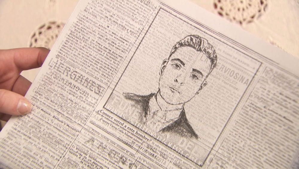 El retrato de Jesús aparece en los periódicos del pueblo