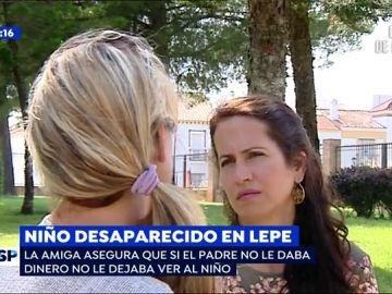 """Espejo Público habla con una amiga de la madre que secuestró a su hijo en Lepe: """"Buscaba hombres con dinero para quedarse embarazada"""""""