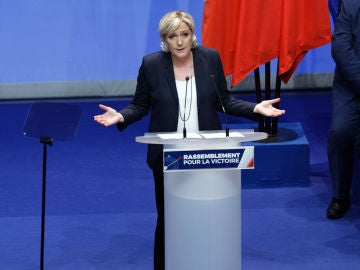 La eurodiputada ultraderechista, Marine Le Pen