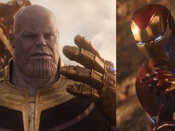 Iron Man y Thanos en 'Vengadores: Infinity War'