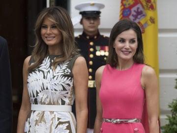 Melania Trump y la reina Letizia durante su encuentro en la Casa Blanca
