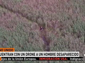 Un dron salva la vida a un hombre de 75 años que se perdió en Reino Unido