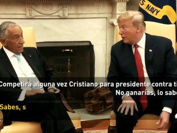 Trump bromea sobre una hipotética candidatura de Cristiano a la presidencia de Portugal