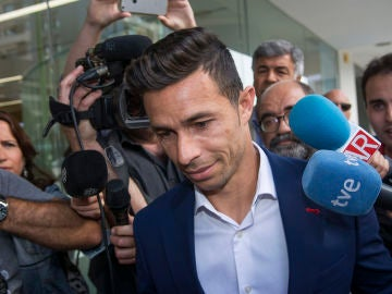 Rubén Castro, a su llegada a los juzgados