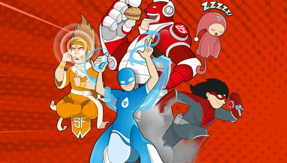 Imagen de los Superhéroes de San Fermín