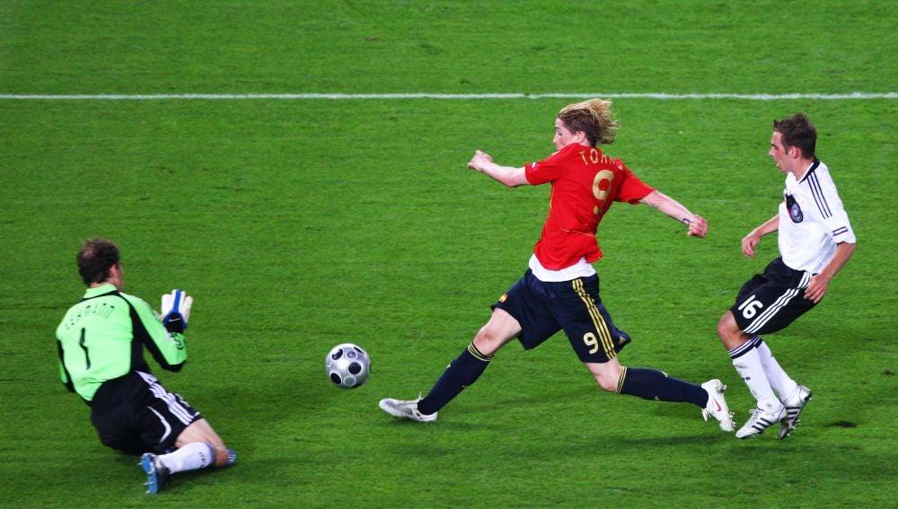 El histórico gol de Torres a Alemania en la Eurocopa de 2008