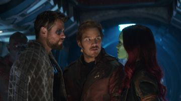 Chris Hemsworth, Chris Pratt y Zoe Saldana