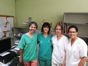 Equipo médico del Hospital de Sagunto