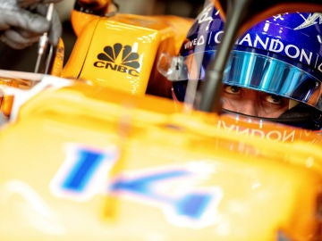 Fernando Alonso, en su monoplaza