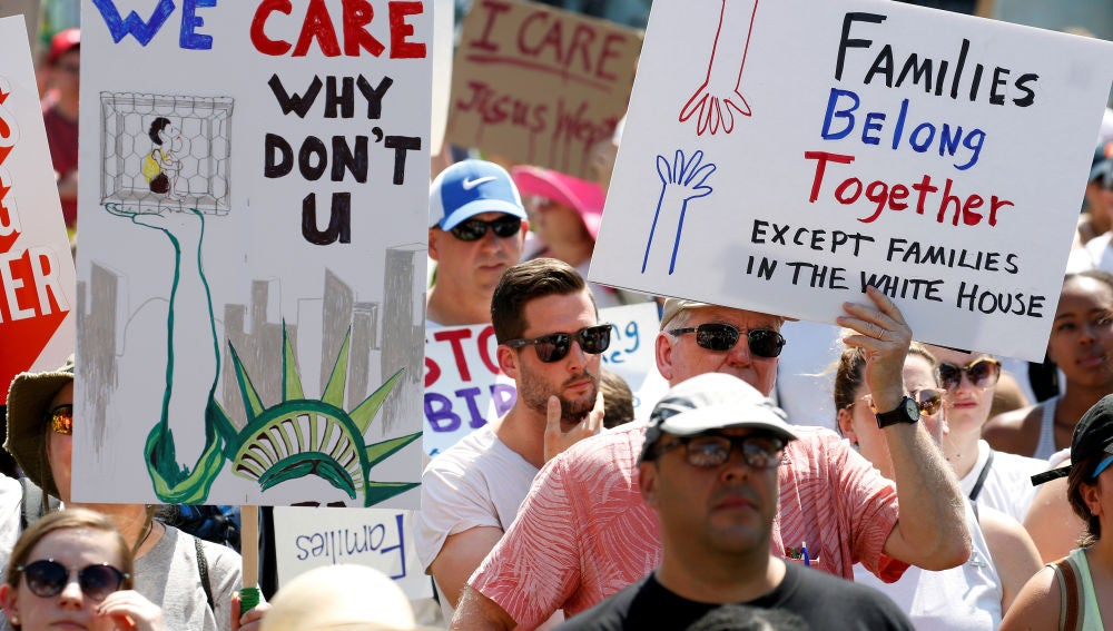 Manifestación en Washington contra la separación de familias