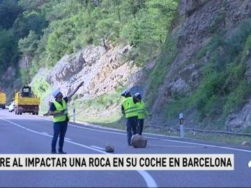 Muere un conductor en un accidente provocado por un desprendimiento de piedras en  La Nou de Berguedà (Barcelona)