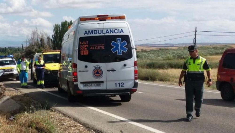 El lugar donde el ciclista fue arrollado por una furgoneta en Algete