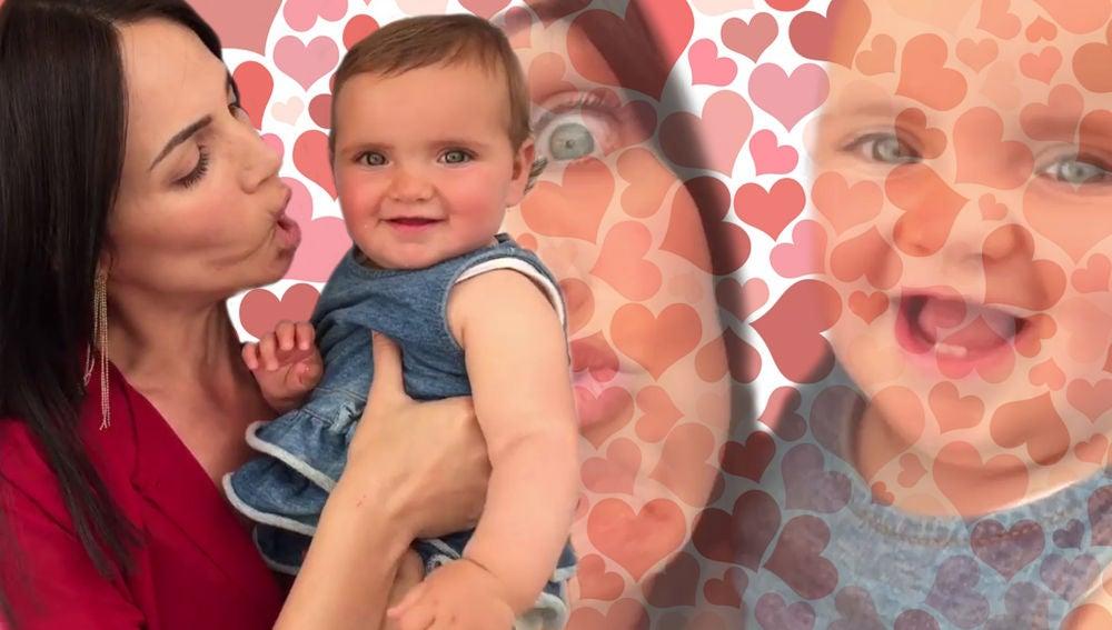 Nerea Garmendia y la pequeña Elaia