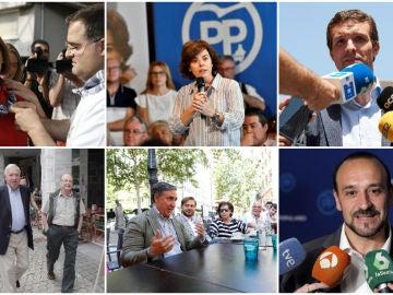 Los seis candidatos a la presidencia del PP