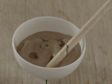 Al rico helado de Nutella.