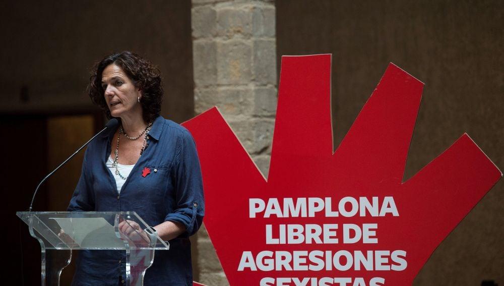 La concejala de Seguridad Ciudadana del Ayuntamiento de Pamplona, Itziar Gómez.