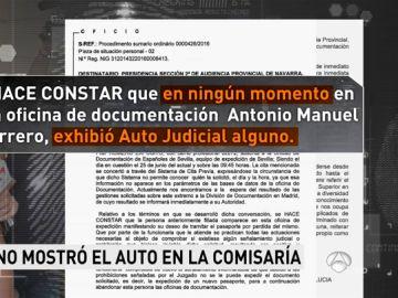 Guerrero no llevaba consigo el auto judicial
