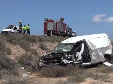 Un fallecido en un choque frontal en Lanzarote