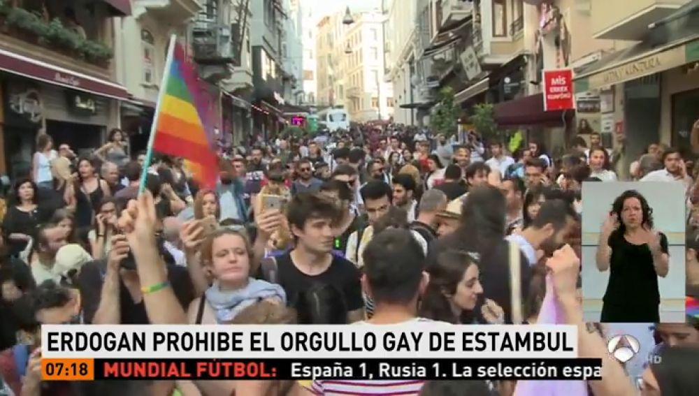 Erdogan prohíbe la manifestación del Orgullo Gay en Estambul, Turquía