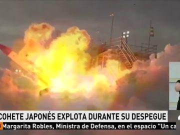 Explota un cohete japones durante su despegue