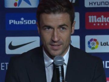 Gabi, en su despedida con el Atlético