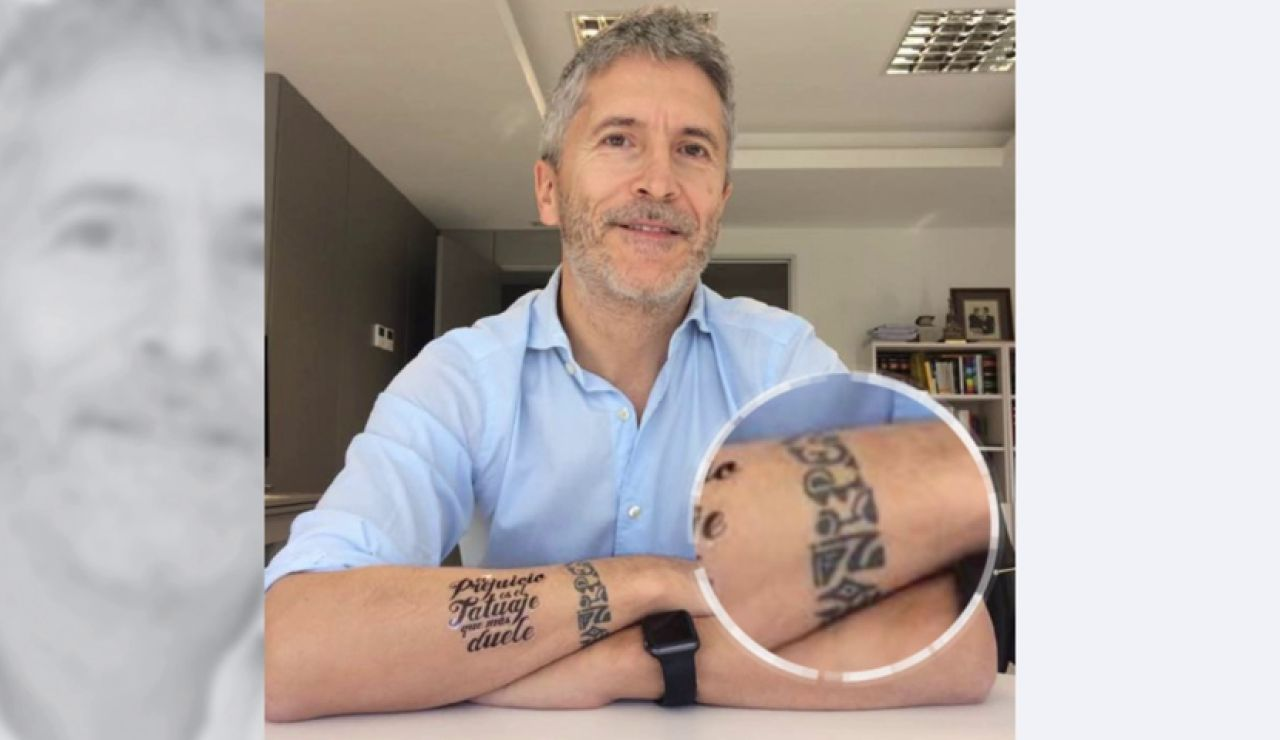 Polémica en la Guardia Civil por la prohibición de llevar tatuajes aunque Grande-Marlaska, su máximo responsable, lleve uno