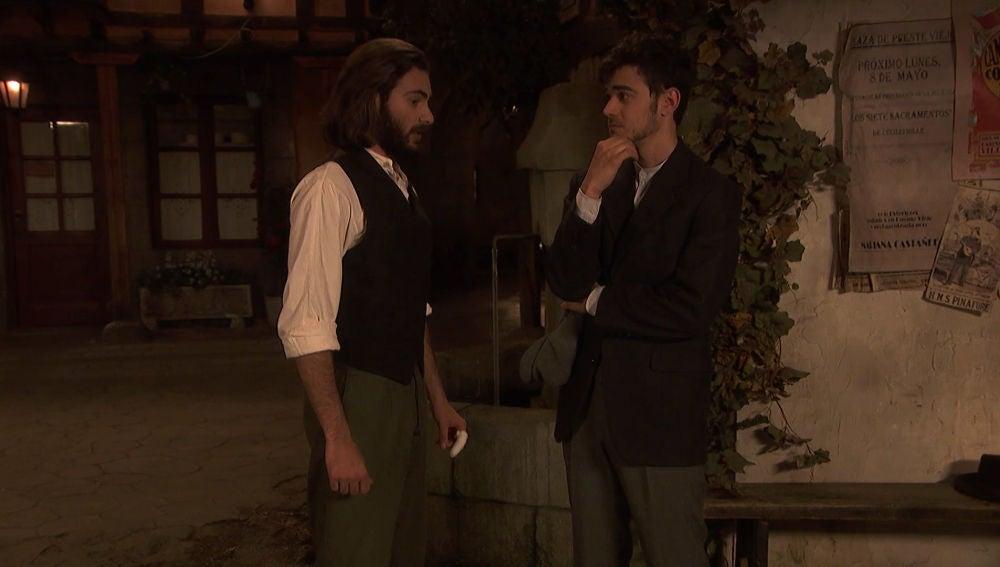 Matías insinúa a Isaac un futuro con Antolina