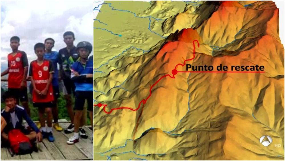 El peligroso rescate de los 12 niños atrapados en una cueva en Tailandia