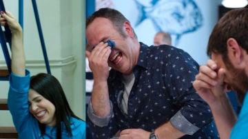 Nerea Garmendia y Óscar Terol paran el rodaje a carcajadas