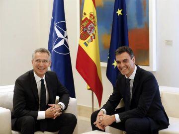 El presidente del Gobierno, Pedro Sánchez, se reúne con el secretario general de la OTAN, Jens Stoltenberg