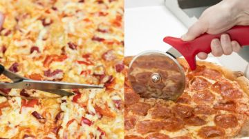 ¿Con qué se corta la pizza?