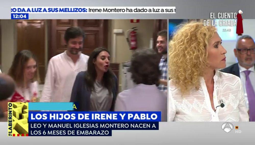 """Cristina Fernández: """"A Irene Montero se le puede haber adelantado el parto por un estado anímico complicado"""""""
