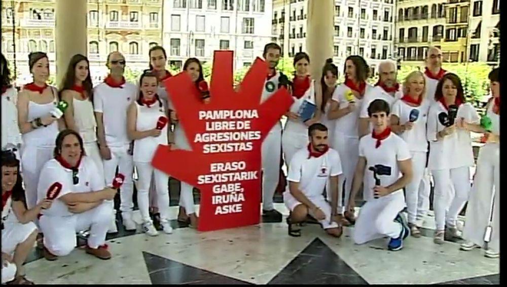 Antena 3 Noticias se une a las buenas prácticas periodístcias durante la cobertura de los Sanfermines