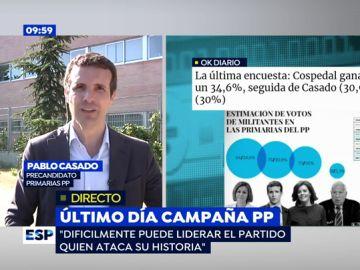 Pablo Casado, en una entrevista en Espejo Público