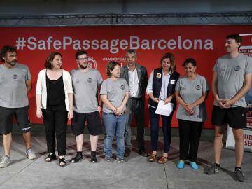 Rueda de prensa de Ada Colau y el director de la ONG Open Arms en Barcelona