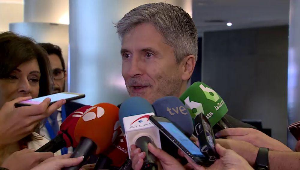 """Grande-Marlaska, sobre el acercamiento de los políticos catalanes presos: """"No es ningún tipo de peaje, es cumplimiento estricto de la ley"""""""