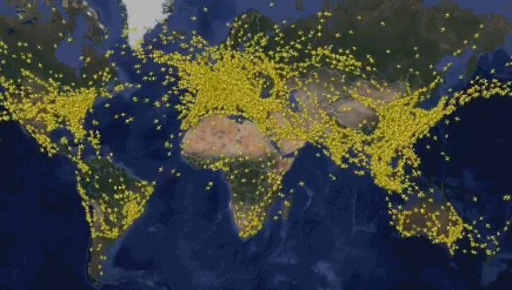 Vuelos monitorizados por Flightradar24